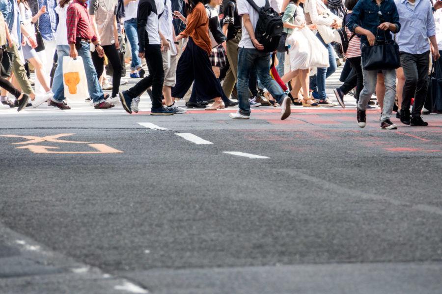 街中の雑踏