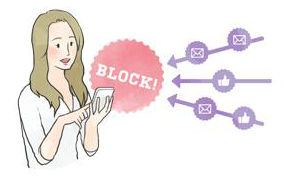 ブロックする女性