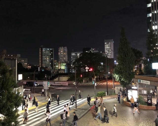 夜の御茶ノ水駅